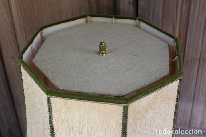 Antigüedades: MAGNIFICA LAMPARA DE SOBREMESA DE CERAMICA PINTADA A MANO IDEAL DECORACION sHABBY CHIC ITALIANA ? - Foto 6 - 122177019