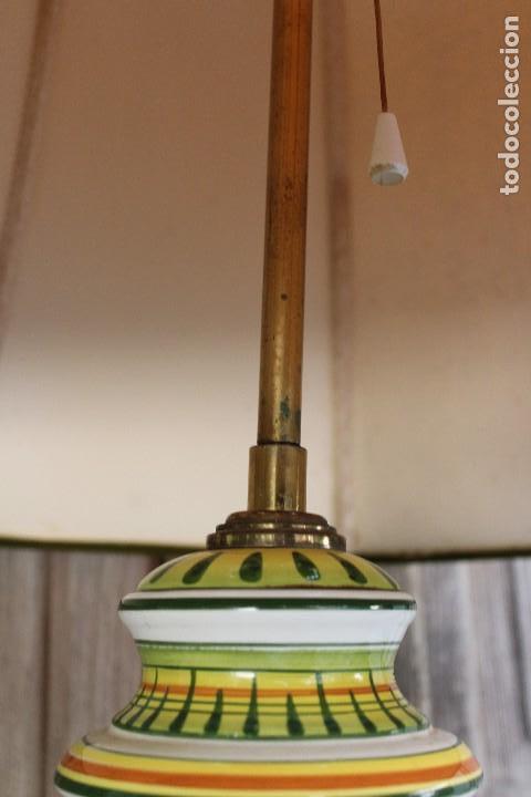 Antigüedades: MAGNIFICA LAMPARA DE SOBREMESA DE CERAMICA PINTADA A MANO IDEAL DECORACION sHABBY CHIC ITALIANA ? - Foto 8 - 122177019