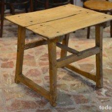 Antigüedades: MESA TOCINERA - MADERA - RÚSTICA. Lote 122177159