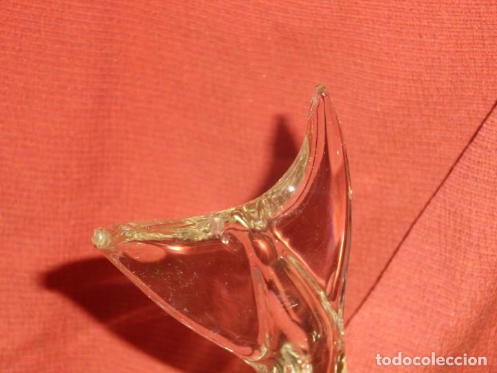 Antigüedades: Figura Tiburón cristal de Murano, años 70, altura 41 cm, Nueva sin usar. - Foto 4 - 122177907