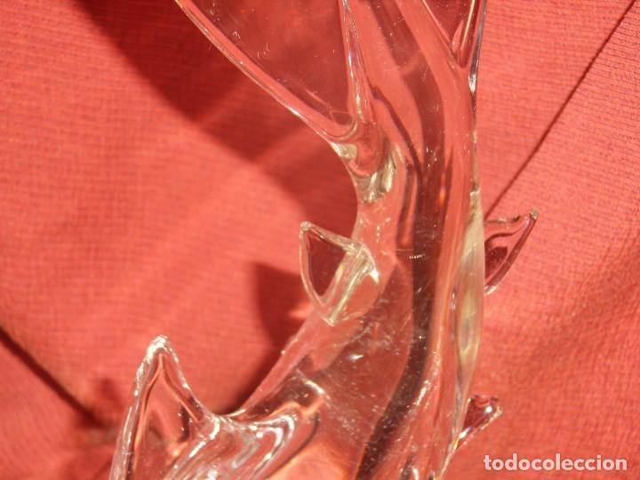 Antigüedades: Figura Tiburón cristal de Murano, años 70, altura 41 cm, Nueva sin usar. - Foto 5 - 122177907