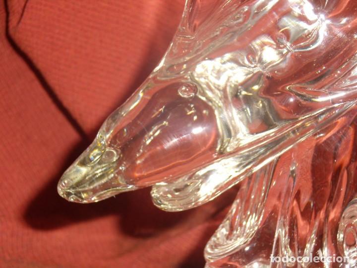 Antigüedades: Figura Tiburón cristal de Murano, años 70, altura 41 cm, Nueva sin usar. - Foto 7 - 122177907