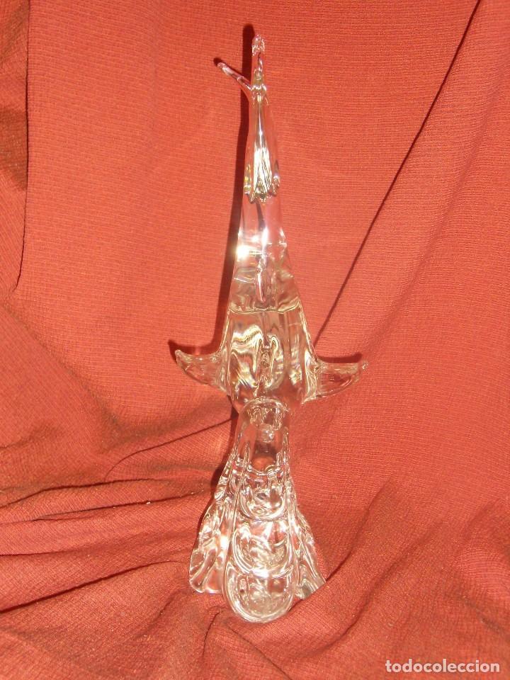 Antigüedades: Figura Tiburón cristal de Murano, años 70, altura 41 cm, Nueva sin usar. - Foto 22 - 122177907