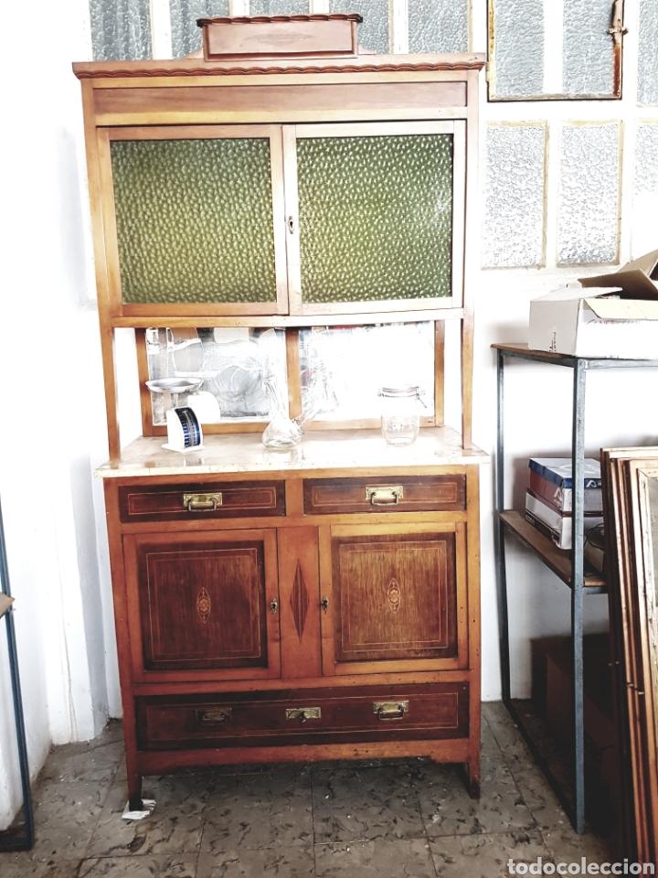 Antiguo mueble alacena valencia con marqueter comprar aparadores antiguos en todocoleccion - Muebles antiguos valencia ...