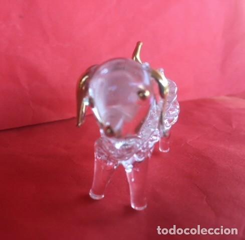 Antigüedades: Delicada figura cristal perro , acabados oro - Foto 2 - 122194811