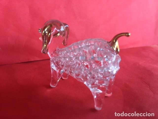 Antigüedades: Delicada figura cristal perro , acabados oro - Foto 6 - 122194811