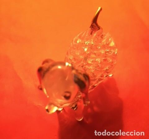 Antigüedades: Delicada figura cristal perro , acabados oro - Foto 7 - 122194811