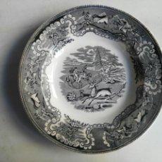 Antigüedades: PLATO HONDO SERIE CIERVO CARTAGENA. Lote 122192687