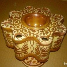 Antigüedades: RARO TINTERO CERÁMICA REFLEJOS MANISES. Lote 122205847