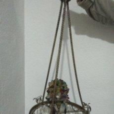 Antigüedades: LAMPARA ANTIGUA ESTILO ARTNOVO DE CRISTAL DE ROCA . Lote 122213607