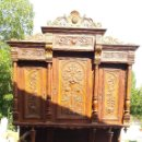 Antigüedades: ANTIGUO APARADOR TALLADO EN MADERA DE ROBLE SIGLO XIX. Lote 122220159