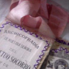 Antigüedades: ANTIGUO ESCAPULARIO, ARCHICOFRADIA NUESTRA SRA. DEL PERPETUO SOCORRO Y DE S. ALFONSO M. DE LIGORIO. Lote 122235367