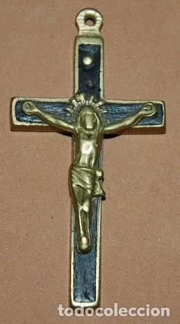CRUZ PECTORAL FRAILERA DEL SIGLO XIX-020 (Antigüedades - Religiosas - Cruces Antiguas)