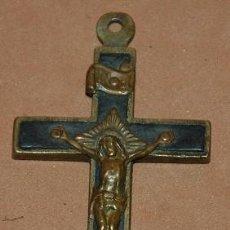 Antigüedades: CRUZ PECTORAL MONJIL DE BRONCE DEL SIGLO XIX-029. Lote 122285431
