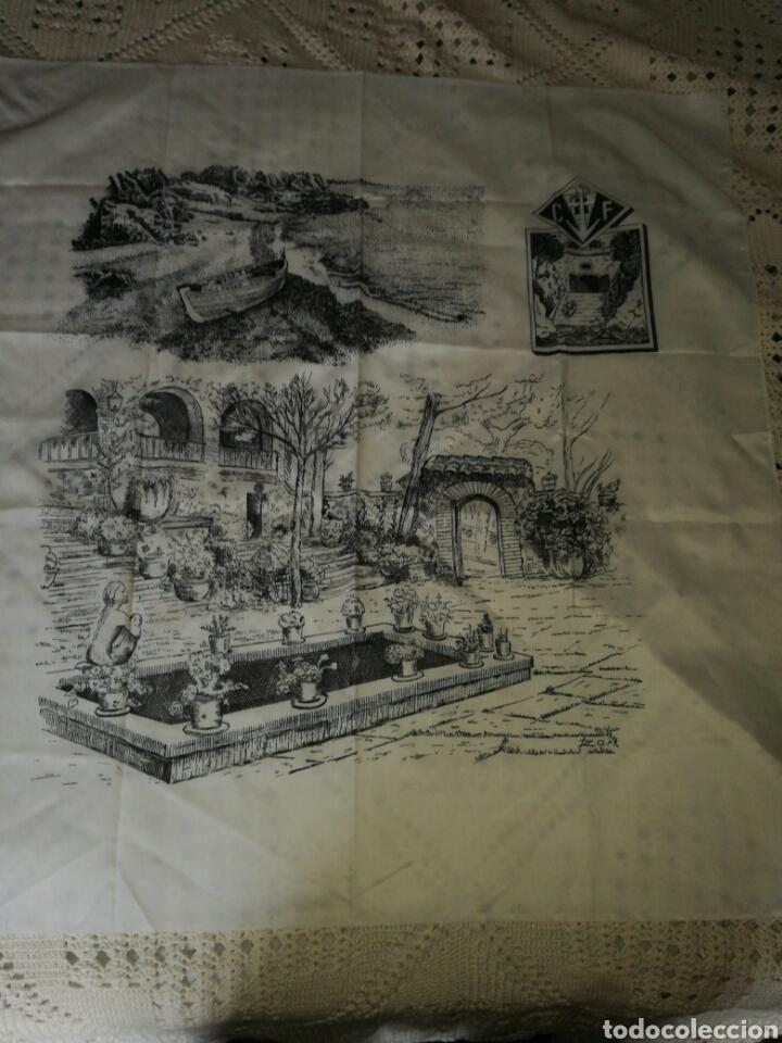 GRAN PAÑUELO CALA FONDO (Antigüedades - Moda - Pañuelos Antiguos)