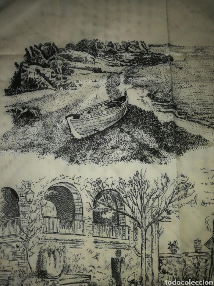 Antigüedades: Gran pañuelo cala fondo - Foto 3 - 122291715