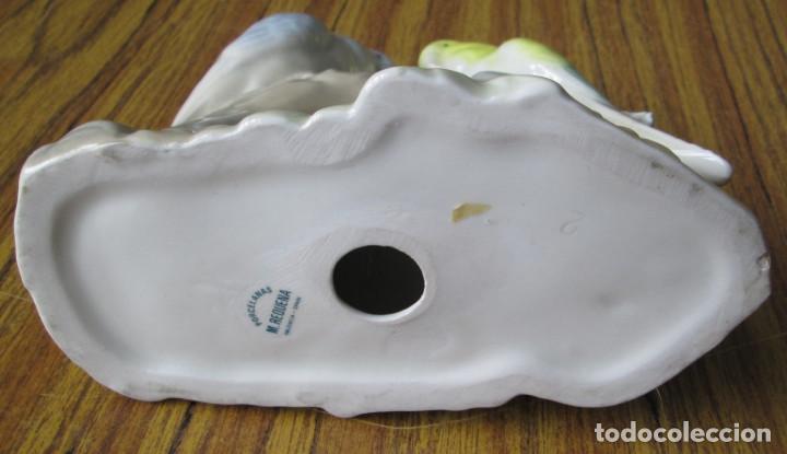 Antigüedades: PAREJA LOROS de porcelana -- Porcelanas M. REQUENA Valencia – Spain - Foto 5 - 122303059