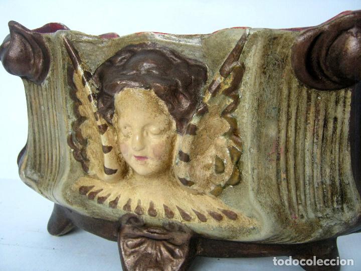 Antigüedades: Antigua jardinera modernista art nouveau 1900 /20 Olot - Foto 4 - 134787597