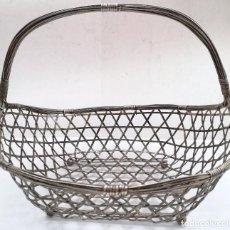 Antigüedades: CESTA ANTIGUA FRUTERO METAL Y ALAMBRE RÍGIDA . Lote 122341303