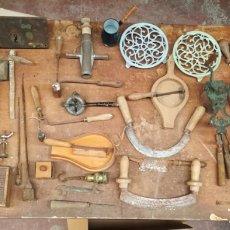 Antigüedades: LOTE DE UTENSILIOS DEL HOGAR Y HERRAMIENTAS. Lote 122342671