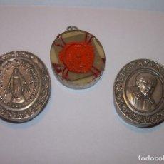 Antigüedades: ANTIGUO Y BONITO RELICARIO DE PLATA AÑO 1830..S.VINCENT DE PAUL...CON DOBLE LACRA..VER FOTOS.. Lote 122345603