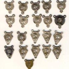 Antigüedades: VEINTIUNA SALVES PARA HACER ROSARIOS.. Lote 122362643