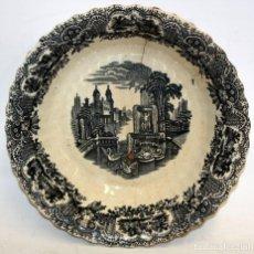 Antigüedades: ENSALADERA EN CERAMICA PICKMAN & CIA (1870 -1899) LA CARTUJA SEVILLA. Lote 122416111