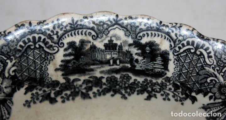 Antigüedades: ENSALADERA EN CERAMICA PICKMAN & CIA (1870 -1899) LA CARTUJA SEVILLA - Foto 5 - 122416111