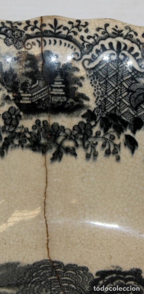 Antigüedades: ENSALADERA EN CERAMICA PICKMAN & CIA (1870 -1899) LA CARTUJA SEVILLA - Foto 6 - 122416111
