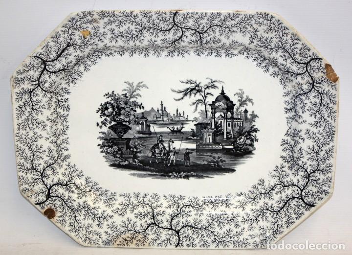 FUENTE EN CERAMICA PICKMAN & CIA DEL SIGLO XIX. LA CARTUJA SEVILLA (Antigüedades - Porcelanas y Cerámicas - La Cartuja Pickman)