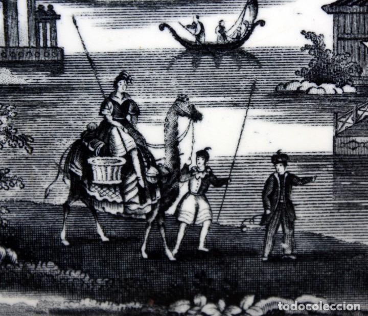 Antigüedades: FUENTE EN CERAMICA PICKMAN & CIA DEL SIGLO XIX. LA CARTUJA SEVILLA - Foto 4 - 122422935