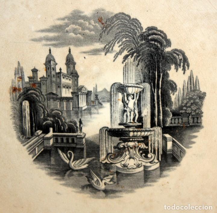 Antigüedades: GRAN PLATO EN CERAMICA PICKMAN & CIA (semi china) SIGLO XIX. LA CARTUJA SEVILLA. 38,5 CM. DIAMETRO - Foto 2 - 122425859