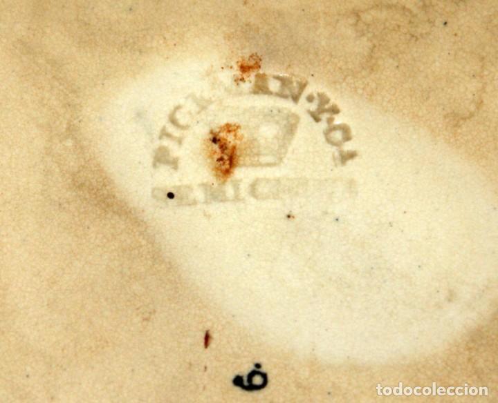 Antigüedades: GRAN PLATO EN CERAMICA PICKMAN & CIA (semi china) SIGLO XIX. LA CARTUJA SEVILLA. 38,5 CM. DIAMETRO - Foto 9 - 122425859