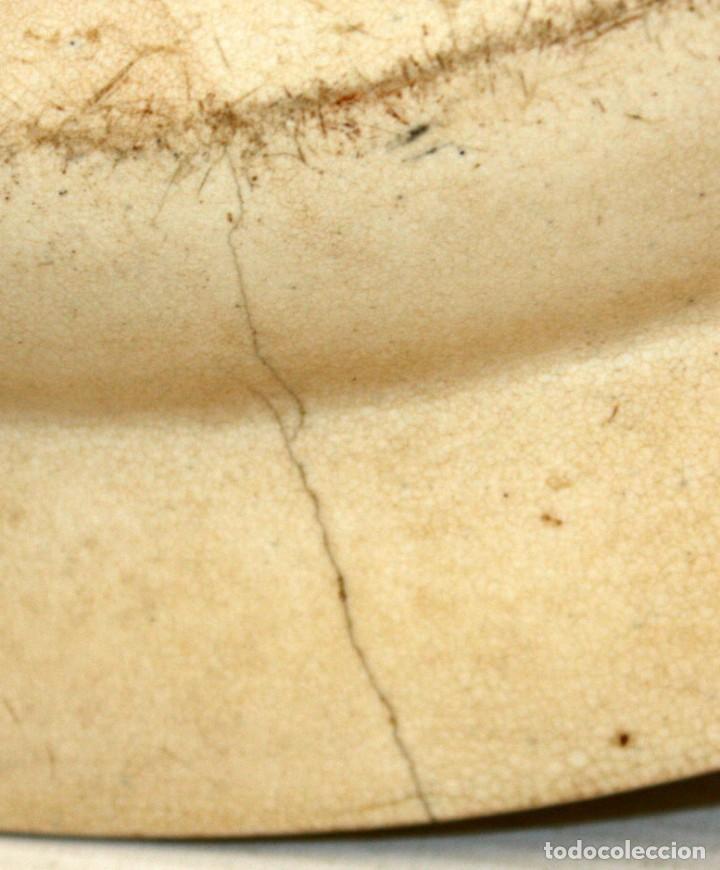 Antigüedades: GRAN PLATO EN CERAMICA PICKMAN & CIA (semi china) SIGLO XIX. LA CARTUJA SEVILLA. 38,5 CM. DIAMETRO - Foto 11 - 122425859