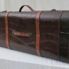 Antigüedades: EXCEPCIONAL BAÚL MALETA DE PIEL. Lote 122426391