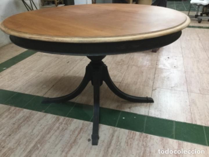 Antigüedades: Espectacular mesa de madera restaurada, de centro, sólida y estable. Leer. - Foto 2 - 122433555