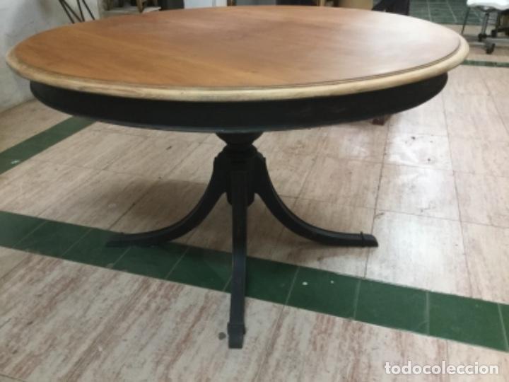Antigüedades: Espectacular mesa de madera restaurada, de centro, sólida y estable. Leer. - Foto 3 - 122433555