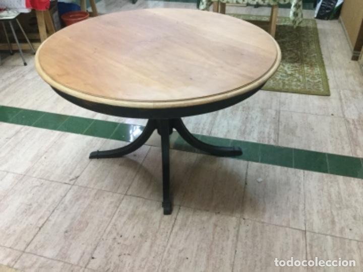 Antigüedades: Espectacular mesa de madera restaurada, de centro, sólida y estable. Leer. - Foto 4 - 122433555