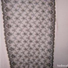 Antigüedades: ANTIGUA MANTILLA BASE DE TUL M: 2.14X83 CM.. Lote 122441859