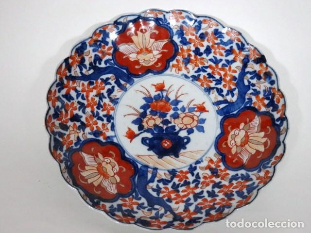 PLATO DE PORCELANA JAPONESA IMARI. S.XIX. (Antigüedades - Porcelana y Cerámica - Japón)