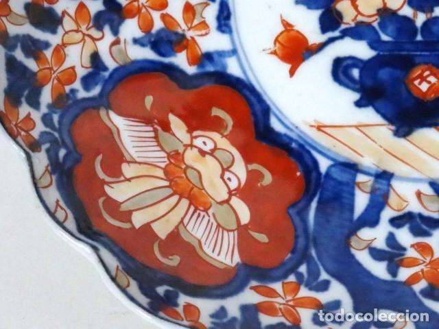 Antigüedades: Plato de porcelana Japonesa Imari. S.XIX. - Foto 2 - 122444659