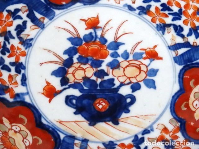 Antigüedades: Plato de porcelana Japonesa Imari. S.XIX. - Foto 3 - 122444659
