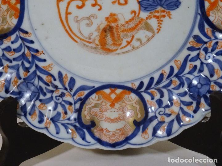 Antigüedades: Plato de porcelana china estilo Imari (porcelana japonesa) - Foto 3 - 122447487