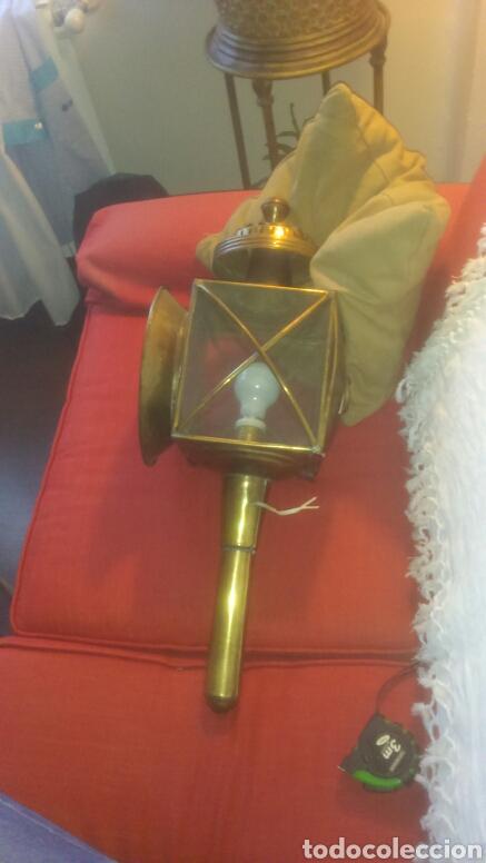 Antigüedades: Farol de Carruaje grande de 65 cm. Electrificado. - Foto 2 - 122451566