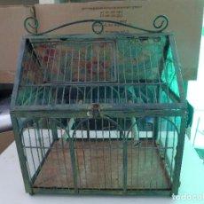 Antigüedades: ANTIGUA JAULA DE METAL Y CRISTAL. Lote 195246463
