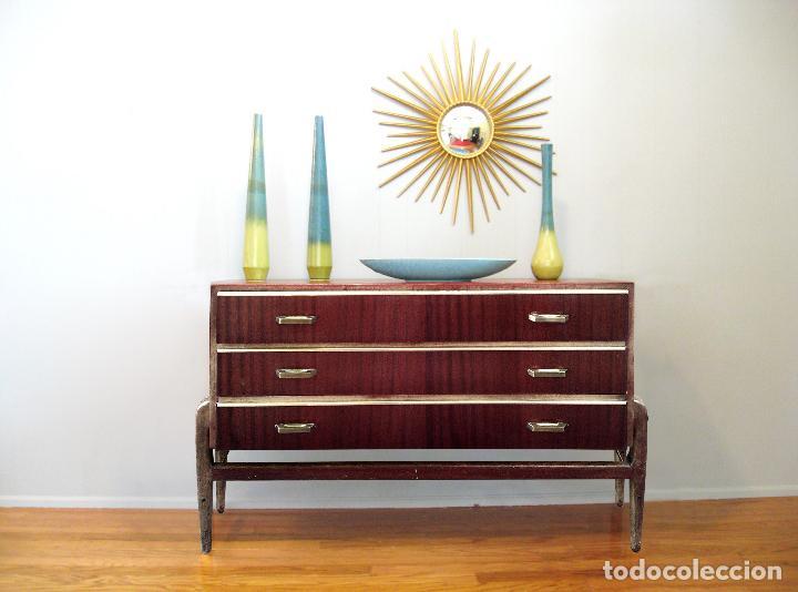 Mueble natural aparador consola comoda cajones comprar - Muebles anos 50 madrid ...