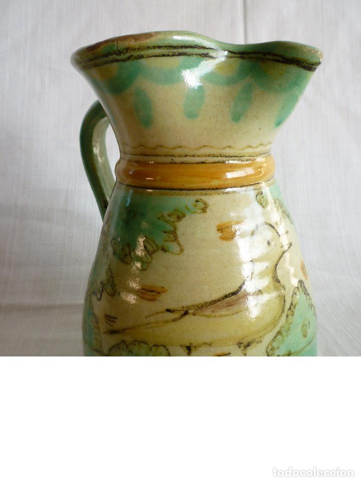 ANTIGUA JARRA DE CERÁMICA DE PUENTE DEL ARZOBISPO (Antigüedades - Porcelanas y Cerámicas - Puente del Arzobispo )