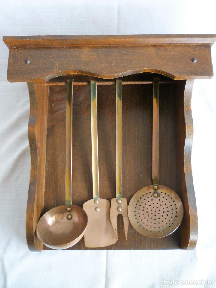 juego de utensillos de cocina en cobre y laton - Kaufen Antike ...