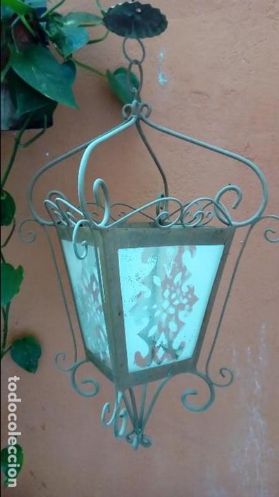 FAROL DE HIERRO- (Antigüedades - Iluminación - Faroles Antiguos)