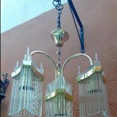 Antigüedades: LAMPARA DE TECHO ART DECO-. Lote 122534355